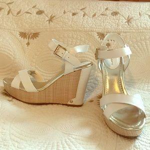 Liz Claiborne wedge sandals. Size 6.